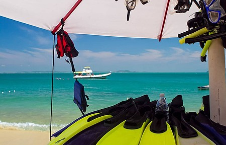 Aluguel de snorkel é comum em diversas praias