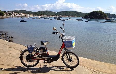 Bikes elétricas também estão disponíveis