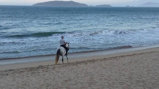 Belos cenário contornam a cavalgada